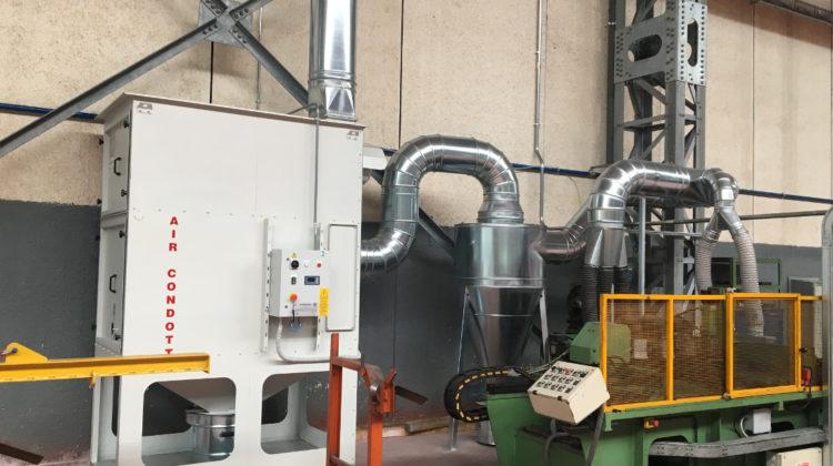 impianto aspirazione industriale polveri fumi