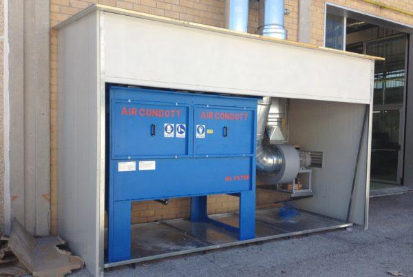 Depuratore OIL-STOP installato in torneria automatica