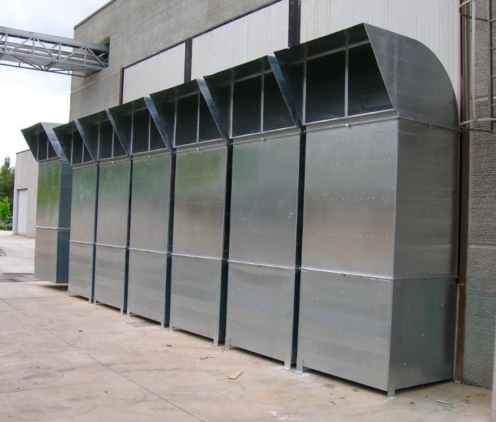Silenziatori impianto ventilazione sal compressori