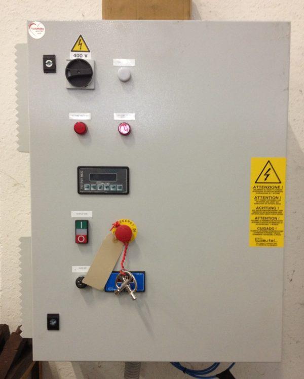 Quadro comando con inverter e pressostato controllo filtri