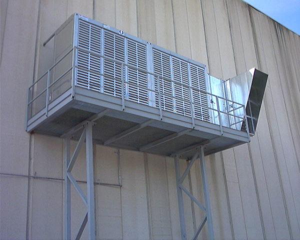 Raffrescamento aria in ingresso per cabine di verniciatura