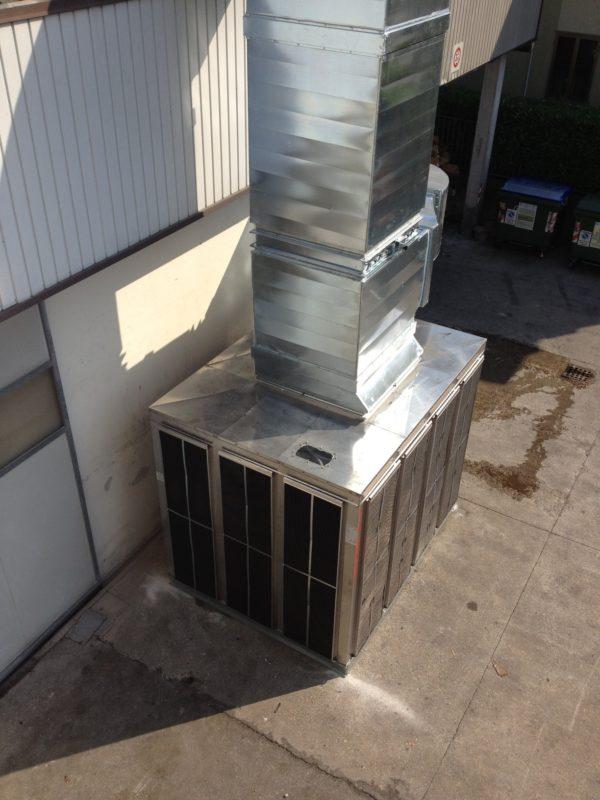 Raffrescatore evaporatico adiabatico per grandi ambienti