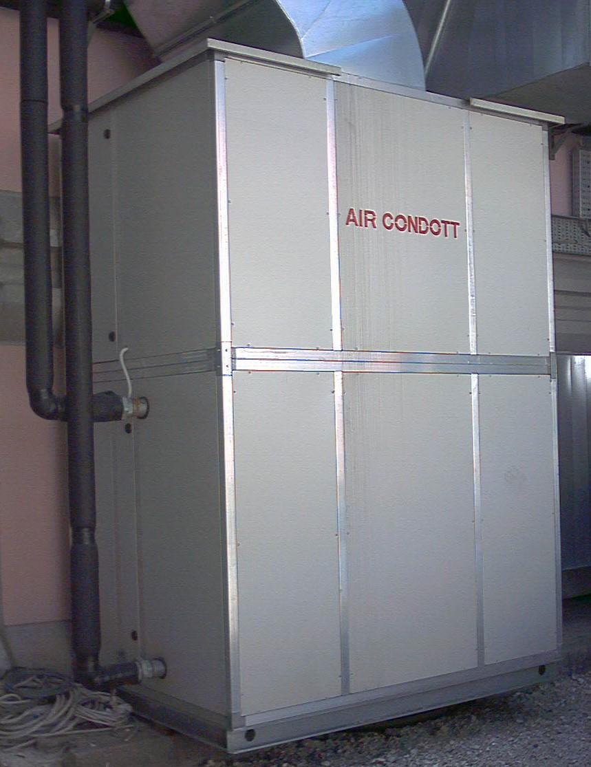 Foto centrale trattamento aria verticale