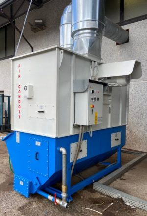 impianto aspirazione polveri con presenza scintille